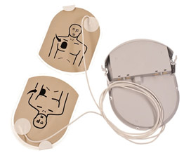 Combined Electrodes and battery PAD PAK for Samaritan PAD AED's