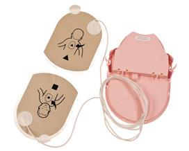 Combined Pediatric Electrodes and battery PAD PAK for Samaritan PAD AED's